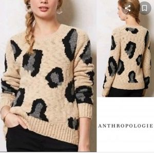 Anthropologie sleeping on snow Guepardo sweater